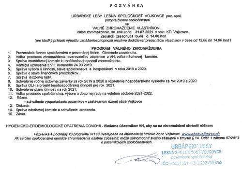 Pozvánka - VH 31.7.