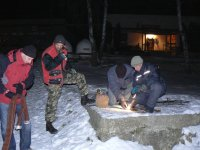 Príprava ľadovej plochy v roku 2011 pre deti