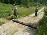 Kontrola stavu postavenej odrážky vody v lokalite DOLINA pri obecnom vodojeme