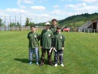 Krúžok mladých priateľov prírody z obce Vojkovce súťažil na okresnom kole  na Poráči  v roku 2012