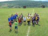 Slávnostný nástup na turnaj o pohár starostu obce Vojkovce v roku 2011