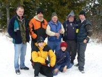 Expedícia turistov z obce Vojkovce pri zdolaní 1129,4m Sľubice 26.12.2011