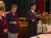 Starosta obce Rastislav  Kolej   otvoril príhovorom  oslavu jubilantov  v roku  2011