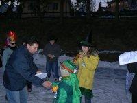 Maskám odovzdal ceny starosta obce Rastislav Kolej , 30.január 2011