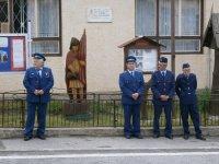 DHZ v obci Vojkovce  pri slávnostnom vysvietení patróna  sv. Flóriana