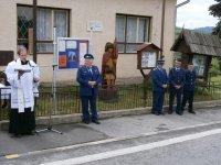 Vysviacka sochy sv. Flóriana v obci Vojkovce