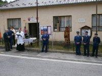 Vysviacka sochy sv.Flóriana v obci Vojkovce 1.06.2013