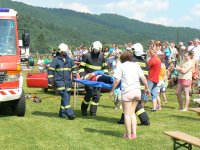 MDD 2011 ukážka záchrany osádky havarovaného auta HaZZ Krompachy