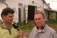 Starosta obce Vojkovce Rastislav Kolej pri rozhovore s redaktorom rádia REGINA