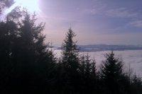 Pohľad z vrcholu Sľubice na obec Vojkovce