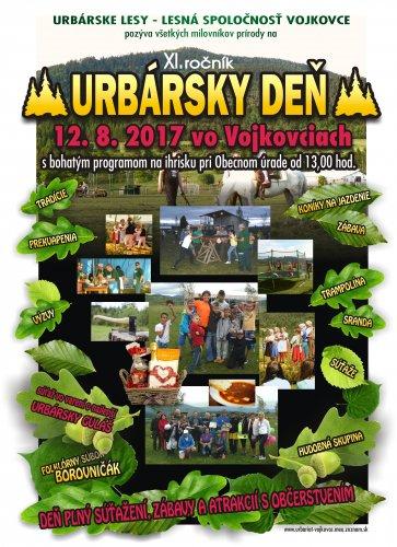 Pozvánka - Urbársky deň 2017