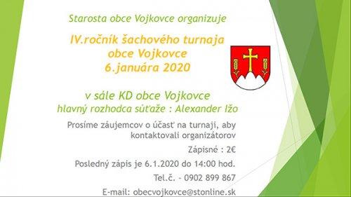 Pozvánka - šachový turnaj 2020